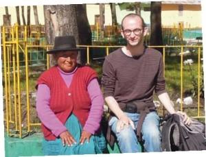 Christophe, en compagnie d'une péruvienne