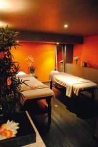 Une salle de massage chez Mamabali