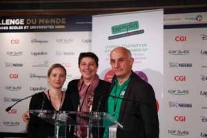Yolaine Drouilly - Passerelle ESC, Alexandrine Bornier - ESC Dijon et Christian Grapin - Directeur de TREMPLIN Études-Handicap-Entreprises