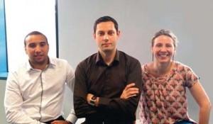 Stéphanie Roger, Christophe Bawedin et Yassine El Ghani, étudiants en Mastère spécialisé Marketing des services à Grenoble Ecole de Management
