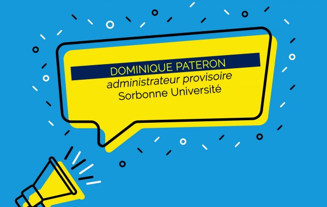 Dominique Pateron administrateur provisoire de Sorbonne Université