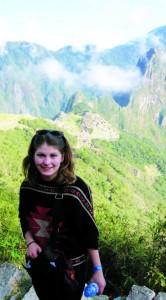 Olympe au Pérou, à Machu Pichu