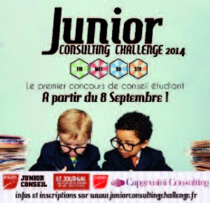Affiche de communication du Junior Consulting Challenge.