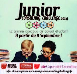 Affiche de communication du Junior Consulting Challenge.