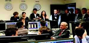 Salle des marchés, partenariat Bloomberg/GEM