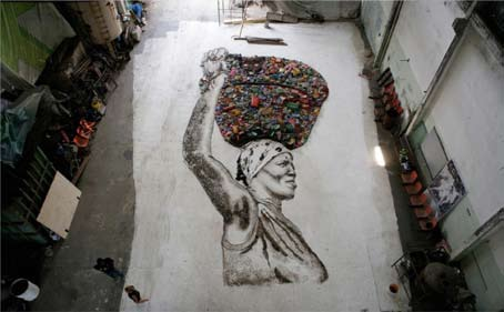 Quand la dure vie des Catadores de Rio se transforme en oeuvre d'art
