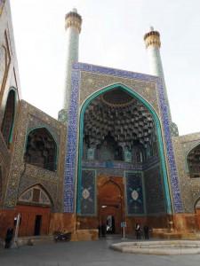 Porte monumentale de la mosquée de l'Imam