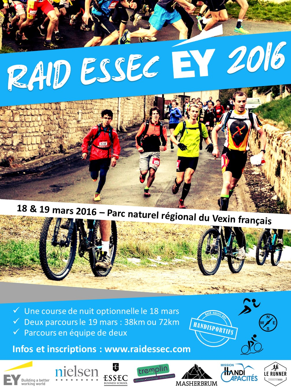 Le Raid ESSEC – EY revient les vendredi 18 et samedi 19 mars 2016 dans le Val D'oise