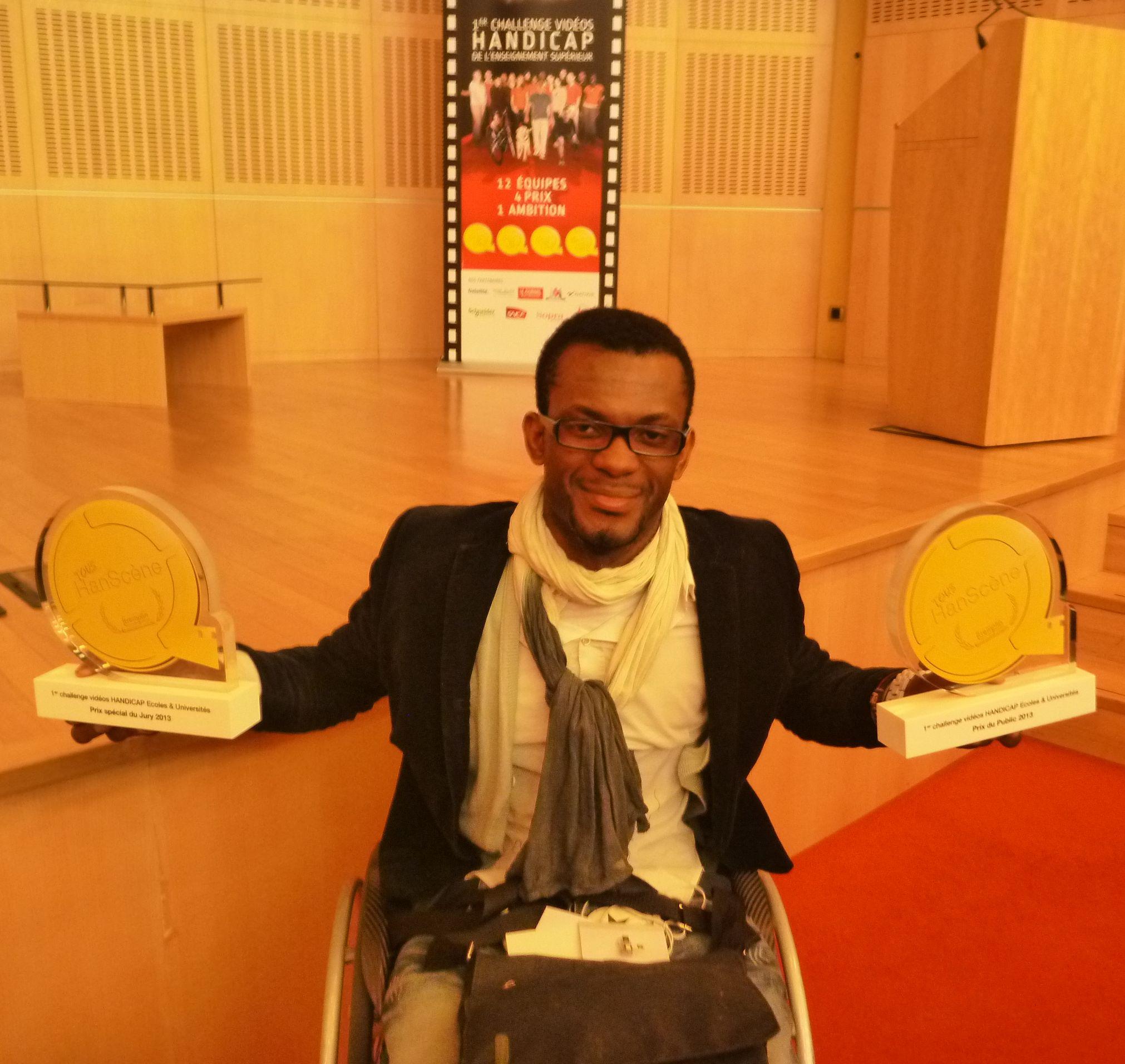 Bordeaux 2 grand vainqueur du premier «Challenge vidéo handicap TREMPLIN Tous HanScène®»