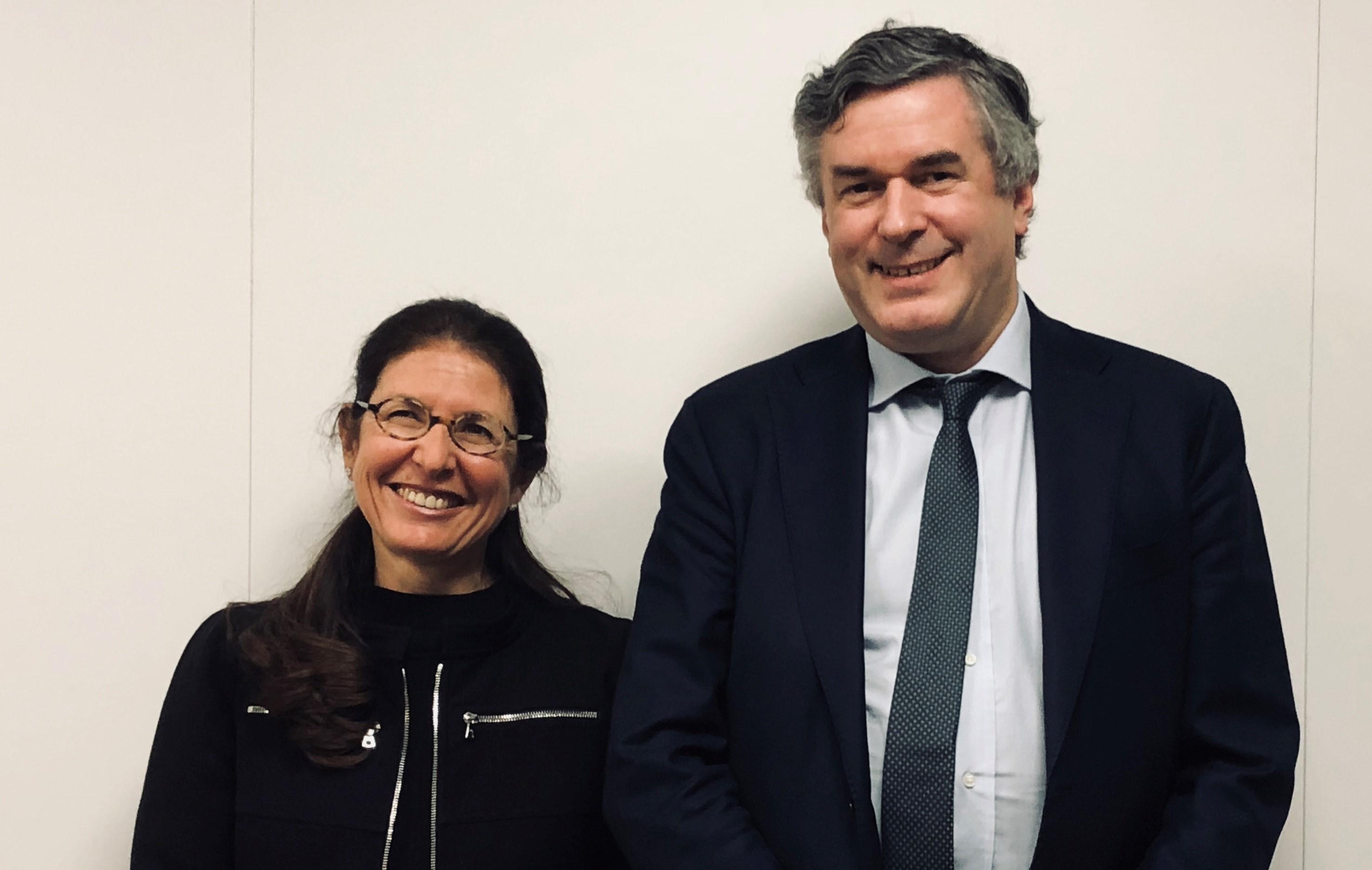 Anne Lalou DG de La Web School Factory et Edouard Husson VP de PSL
