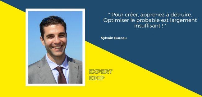 Pour Sylvain Bureau l'enjeu majeur de la créativité est la capacité à détruire pour créer et concrétiser ses idées.