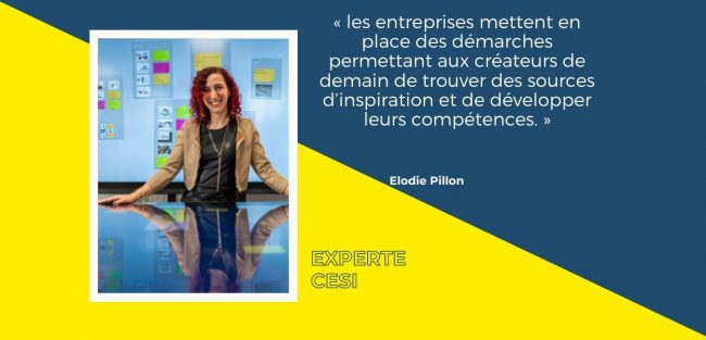 Pour Elodie Pillon l'innovation ouverte est le fruit d'une collaboration intense entre entreprises et créateurs de demain
