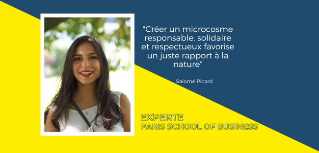 Dans sa tribune, Salomé Picard explique comment la business school sensibilise les étudiants au développement durable