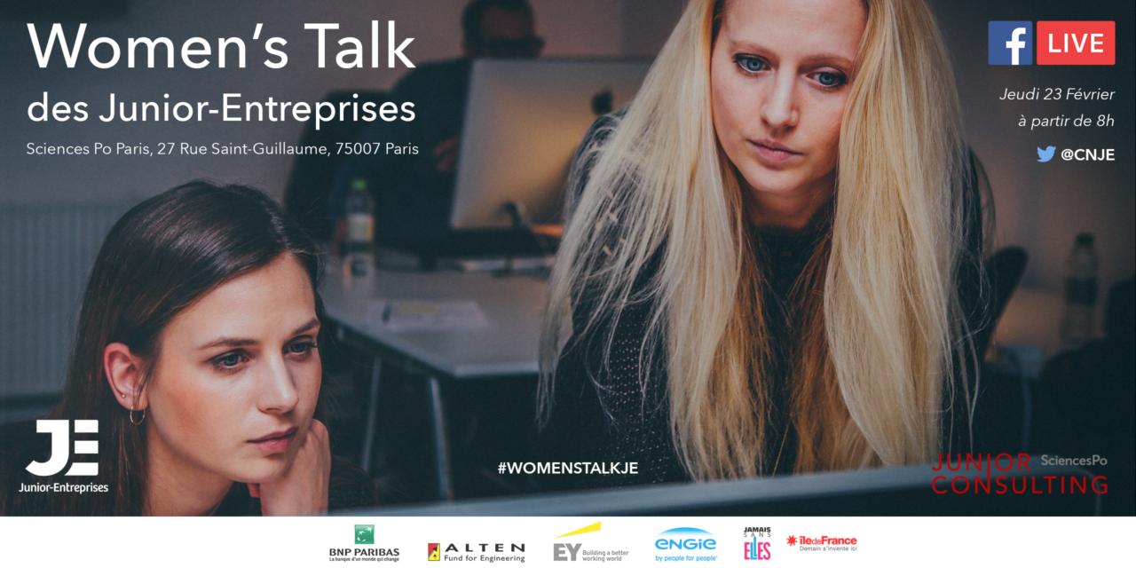 Management et entrepreneuriat féminin, au Women's Talk Junior-Entreprises