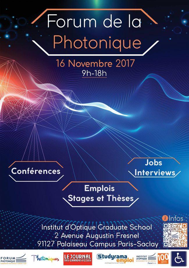 C'est parti pour le Forum de la Photonique le 16 novembre 2017