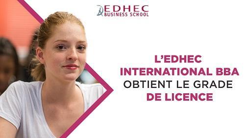 L'EDHEC Business School obtient le grade de licence pour son Bachelor in Business Administration
