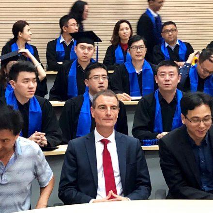 Christophe Germain a remis les premiers diplômes de SABS fin mars 2019