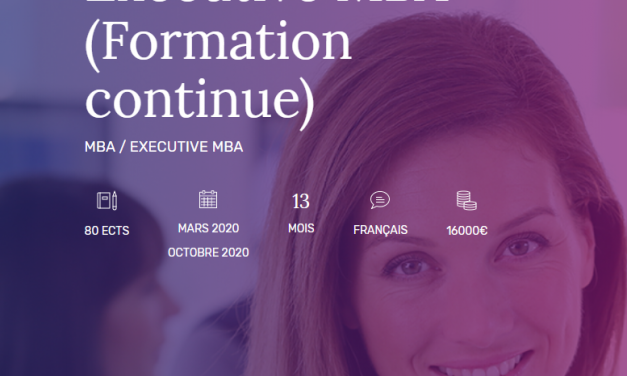 Rentrée de mars 2020 : EDC Paris Business School ouvre un Executive MBA