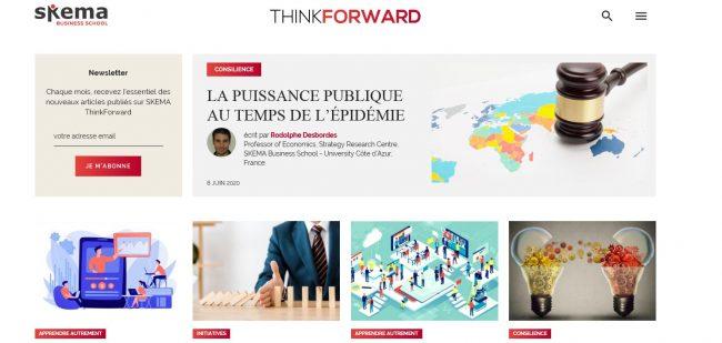 ThinkForward : le nouveau site Knowledge de SKEMA