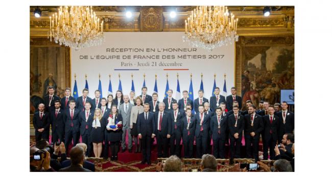 #TEAMFRANCE : L'ÉQUIPE DE FRANCE DES MÉTIERS 2017 A L'ELYSÉE