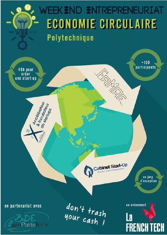 Start-up Week-end consacré à l'économie circulaire les 9, 10 et 11 mars à l'École polytechnique
