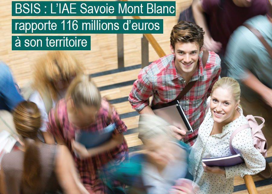 BSIS : L'IAE Savoie Mont Blanc rapporte 116 millions d'euros à son territoire