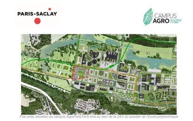 Début du chantier du nouveau Campus d'AgroParisTech-Inra à Paris-Saclay