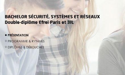 Efrei Paris et 3iL Ingénieurs lancent un double-diplôme : le Bachelor Sécurité, Systèmes et Réseaux
