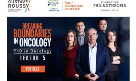 Le « parcours d'excellence en cancérologie – Fondation Philanthropia », dédié à repousser les frontières de la science, recrute sa 5e promotion de jeunes chercheurs