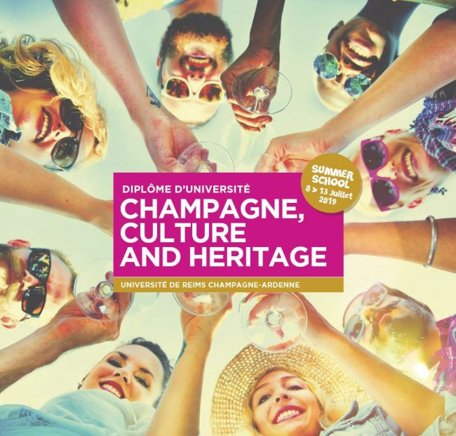 SUMMER SCHOOL Champagne, Culture and Heritage. Du 8 au 13 juillet 2019 à Reims