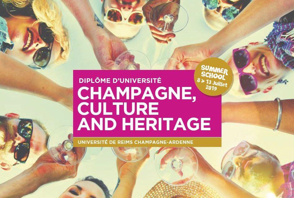 SUMMER SCHOOL Champagne, Culture and Heritage. Du 8 au 13 juillet 2019 à Reims