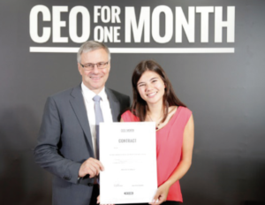 Alain Dehaze et Camille Clément, Adecco Group CEO for One Month 2016