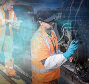 Au-delà de la conception de trains, les ingénieurs de Bombardier Transport assurent aussi la maintenance de parcs de trains, comme ici au Royaume-Uni © Bombardier Transport