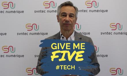 GIVE ME FIVE #TECH – Godefroy de Bentzmann, Président de Syntec Numérique