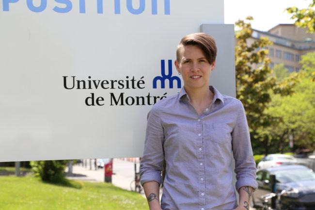 Daisy Le Corre à l'Université de Montréal ©Kathy Chaput