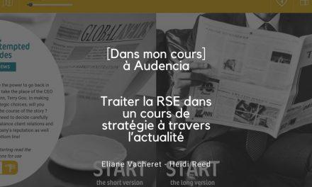 [DMC] Traiter la RSE dans un cours de stratégie à travers l'actualité