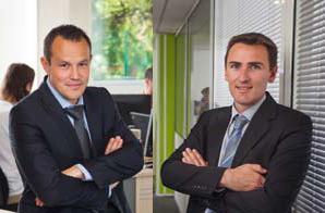 Nicolas Odet (GEM 98) et Yvan Coutaz (GEM 96) à droite, Directeurs généraux adjoints