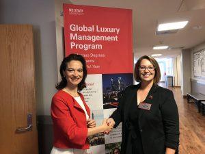 Directrices du Global Luxury And Management Program à Paris (Michaela Merck) et à Raleigh (Kristie McGowan)