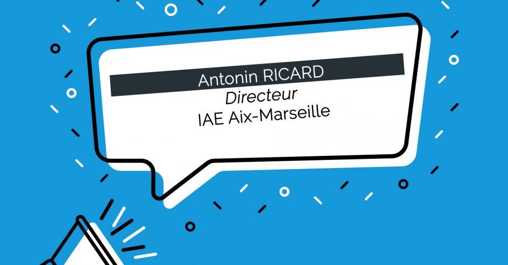 Antonin Ricard, nommé Directeur de l'IAE Aix-Marseille