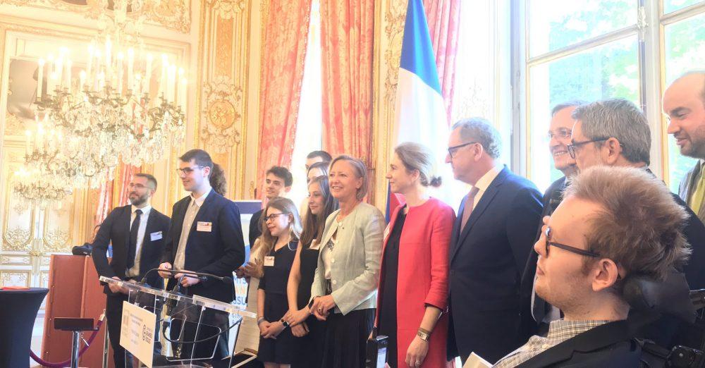 dicap des bourses en présence de Richard Ferrand et Sophie Cluzel à l'Assemblée nationale.