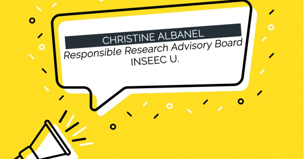 NSEEC U. : Christine Albanel, présidente du Responsible Research advisory board (c) adobestock