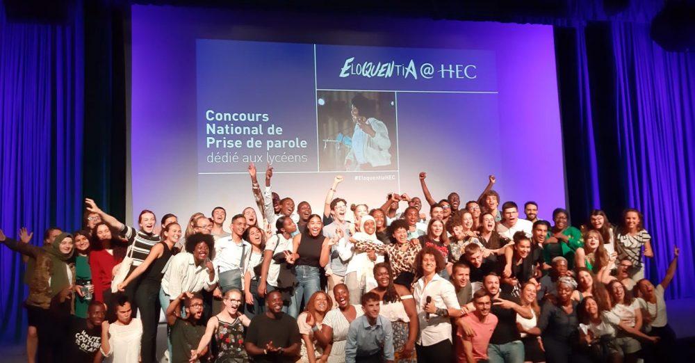 les lauréats de l'édition 2019 du concours Eloquencia@HEC, une mesure engagée par HEC Paris pour l'égalité des chances
