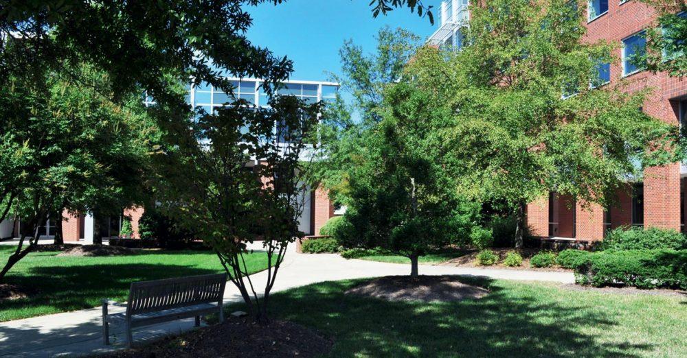 Campus Skema à Raleigh, USA : La promotion 2011 de Skema s'est distinguée par un premier poste hors de France pour 26 % d'entre eux, et 57 % occupant une fonction à dimension internationale. Skema a déjà des campus aux États-Unis (ici les bâtiments de Raleigh), en Chine à Suzhou, et au Maroc à Casablanca.