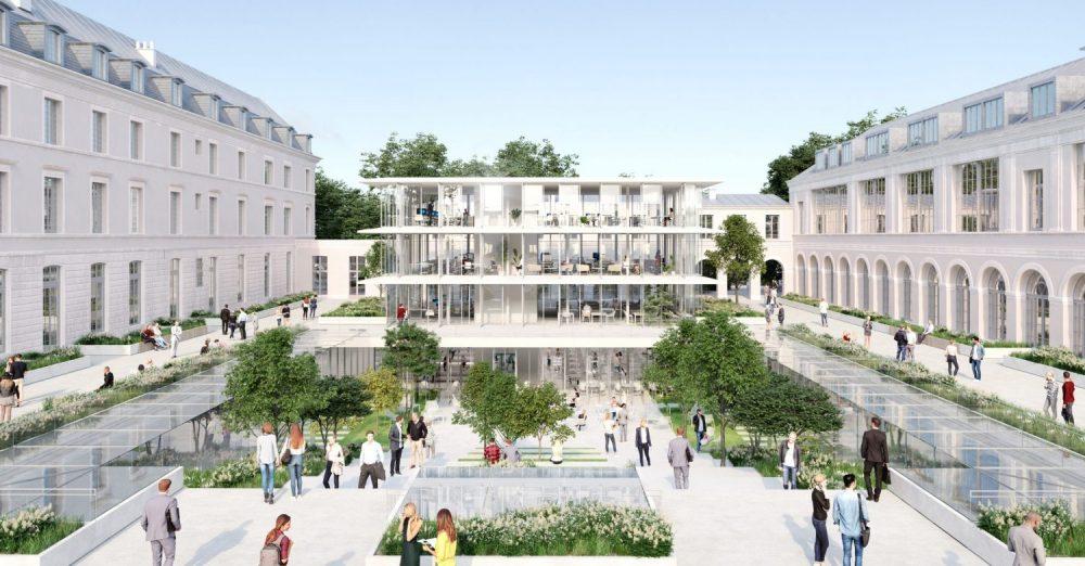 Le nouveau campus de Sciences Po ouvrira ses portes aux étudiants pour la rentrée universitaire 2021-2022 Crédit : Sogelym Dixence - Wilmotte  - Associés Architectes - Moreau Kusunoki Architectes