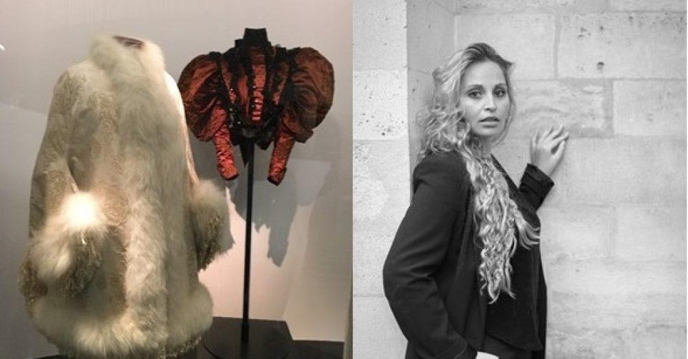 ph de gauche (c) Audrey Kabla – exposition Balenciaga – Musée V&A à Londres ph de droite Audrey Kabla, Professeure, Isefac Bachelor Paris, Groupe IONIS