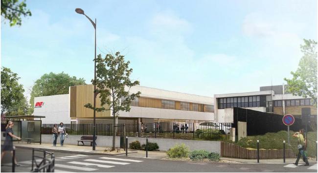Pose de la première pierre pour le nouveau bâtiment de l'ESCOM Chimie