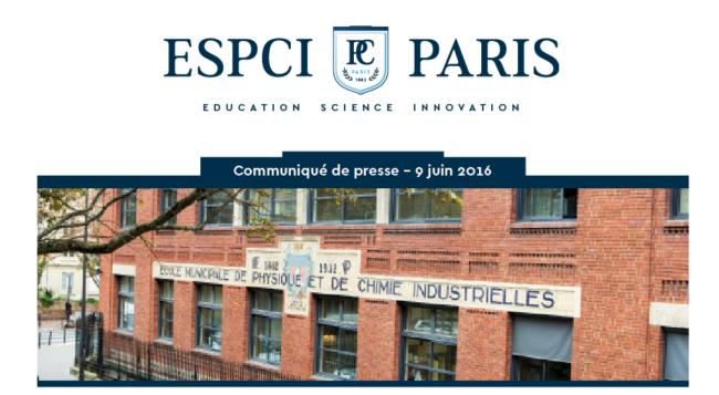 ESPCI PARIS,  UN NOUVEAU LOGO A LA HAUTEUR DE SES AMBITIONS