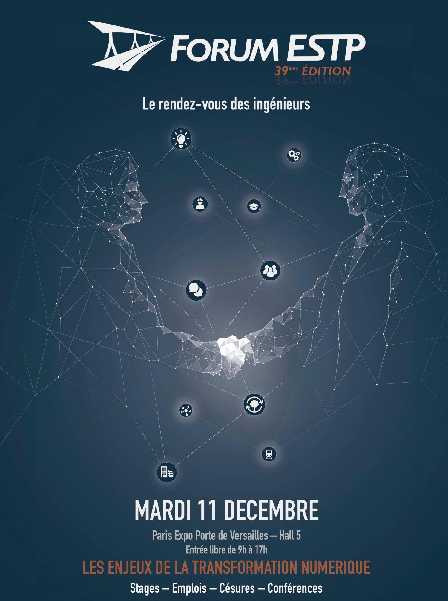Rendez-vous au Forum ESTP le 11 décembre