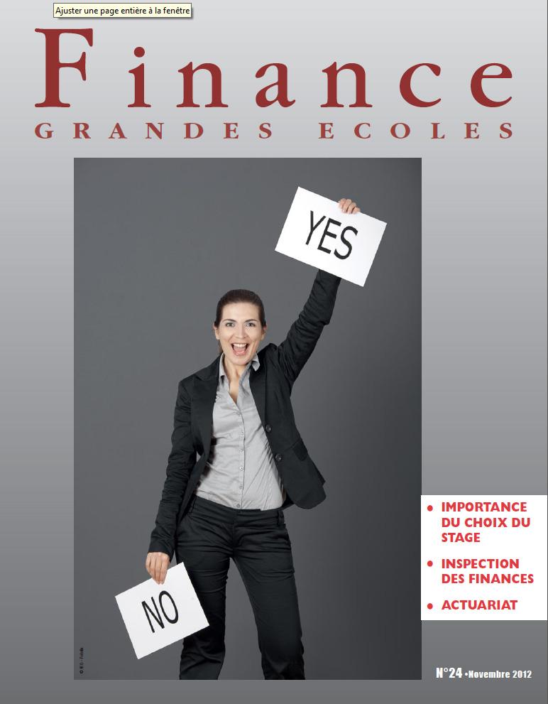 Finance Grandes Ecoles – N°24 – Novembre 2012