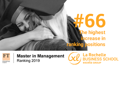 Classement mondial 2019  des masters in management du Financial Times : La Rochelle Business School enregistre la plus forte progression du classement